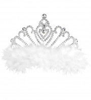 couronne de princesse Couronne de Princesse, Plumes Blanches