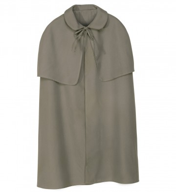 cape manteau à capeline, cape sherlock holmes, cape déguisement sherlock holmes, cape déguisement adulte, cape grise déguisement Cape Début de Siècle, Sherlock, Grise