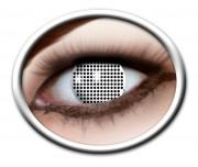 lentilles halloween, lentilles fantaisie, lentilles déguisement, lentilles déguisement halloween, lentilles de couleur, lentilles fete, lentilles de contact déguisement, lentilles blanches, lentilles écran noir et blanc, lentilles halloween Lentilles Blanches, White Screen