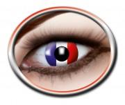 lentilles france, lentilles drapeau français, supporter euro 2016, accessoires euro 2016, maquillage france, boutique supporter, drapeaux france, euro 2016 Lentilles, France