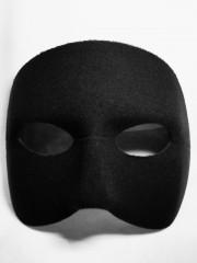 masque vénitien, loup vénitien, loup doge noir Loup Doge, Noir