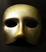 masque vénitien, loup vénitien, loup doge doré Loup Doge, Or