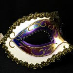 masque vénitien, loup vénitien, masque carnaval de venise, véritable masque vénitien, accessoire carnaval de venise, déguisement carnaval de venise, loup vénitien fait main Vénitien, Arc en Ciel