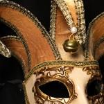 masque vénitien, loup vénitien, masque carnaval de venise, véritable masque vénitien, accessoire carnaval de venise, déguisement carnaval de venise, loup vénitien fait main, masque joker vénitien Vénitien, Joker Mini, Feu et Or