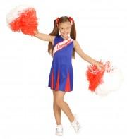 déguisement pompom girl enfant, déguisement de cheerleader fille, déguisements filles, déguisements enfants Déguisement de Pom Pom Girl, Bleu, Fille