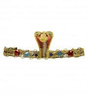 bandeau égyptien, bandeau cléopatre, accessoire déguisement, accessoire déguisement cléopatre, accessoire déguisement égyptienne, déguisement égypte, accessoire egyptien Bandeau Egyptien, Serpent, Or et Pierres