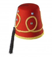 chapeau fez, chapeaux turcs, chapeaux paris, accessoire oriental, chapeaux fez paris, chapeau oriental Chapeau Fez Luxe, Galon et Pierres