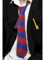 cravate harry potter, cravate d'écolier, cravate déguisement, accessoire déguisement, déguisement harry potter, cravate à rayures déguisement Cravate d'Ecolier, Rayures Rouges et Bleues