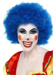 perruques paris, perruques femmes, perruques pas cherperruque de clown bleue, perruque afro bleue Perruque de Clown Bleue