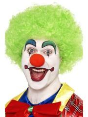 perruque pour homme, perruque pas chère, perruque de déguisement, perruque homme, perruque de clown, perruque frisée, perruque afro verte, perruque verte Perruque de Clown Verte