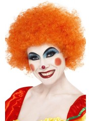 perruques paris, perruques femmes, perruques pas cherperruque de clown orange, perruque afro orange Perruque de Clown Orange