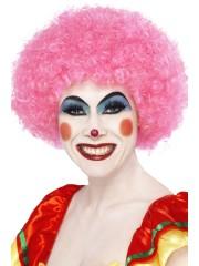 perruques paris, perruques femmes, perruques pas cherperruque de clown rose, perruque afro rose Perruque de Clown Rose