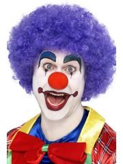 perruque pour homme, perruque pas chère, perruque de déguisement, perruque homme, perruque de clown, perruque frisée, perruque afro violette, perruque violette Perruque de Clown Violette