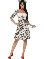 déguisement de chien dalmatien, déguisements d'animaux pour femme, costume de chien femme, costume cruella femme, costumes d'animaux adulte, déguisement 101 dalmatiens, déguisement thème disney femme, costume thème disney femme Déguisement Chien Dalmatien