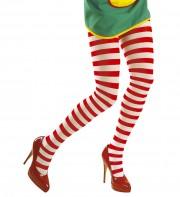 collants rayés, collant rouge et blanc, accessoire de clown, accessoire déguisement, collant à rayures, collants rayés, accessoire déguisement clown Collant Rayé, Rouge et Blanc