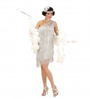 robe charleston déguisement, déguisement charleston, déguisement années 30, robe années 20, costume cabaret, déguisement cabaret femme Déguisement Charleston Silver