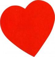 coeurs rouges en carton, coeur déco, déco saint valentin Coeur Rouge, Déco