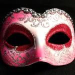 masque vénitien, loup vénitien, masque carnaval de venise, véritable masque vénitien, accessoire carnaval de venise, déguisement carnaval de venise, loup vénitien fait main Vénitien, Iris Déco, Rose et Rouge