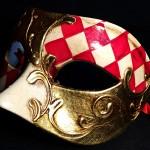 masque vénitien, loup vénitien, masque carnaval de venise, véritable masque vénitien, accessoire carnaval de venise, déguisement carnaval de venise, loup vénitien fait main Vénitien, Civette Damier, Rouge et Or