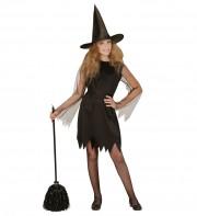 déguisement de sorcière enfant, déguisement halloween fille, déguisement halloween enfant, déguisement sorcière halloween enfant, déguisement sorcière halloween fille, costume halloween enfant, costume sorcière fille Déguisement de Sorcière Noire, Fille