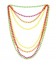 colliers de perles fuo, accessoires disco, bijoux fluos, accessoires discos, accessoires fluos, bijoux années 80, accessoires années 80, colliers perles en plastique, bijoux fluo, bijoux années 80, bijoux pour déguisements, accessoires fluos, accessoires années 80, collier disco, bijoux plastique fluo pas cher Colliers Années 80, Perles Fluos