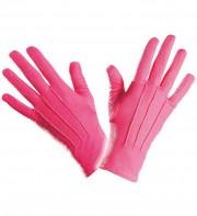 gants roses, gants de couleur déguisement, accessoire gants déguisement, gants déguisement, gants roses déguisement Gants Courts, Roses