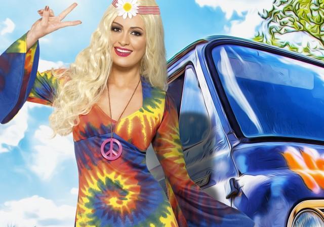 Soirée déguisement déco Hippies