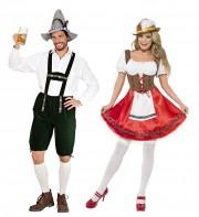 déguisements couples, déguisements bavarois et bavaroise Bavarois et Bavaroise