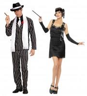 déguisements couples, déguisements charleston, déguisements années 20 Gangster et Charleston