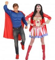 déguisements couples, déguisements super héros Comme des Super Héros