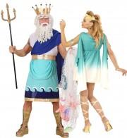 déguisements couples, déguisements dieux grecs Dieu Grec Poseidon et Deesse de l'Olympe