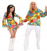 déguisements couples, déguisements flowerpower, déguisements hippies Flower Power