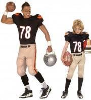 déguisements couples, déguisements footballeur américain Footballeur Americain et Footballeur Americain Kid