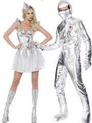 déguisements couples, déguisements futuristes, déguisements cosmonautes Astronaute et Futur Fever