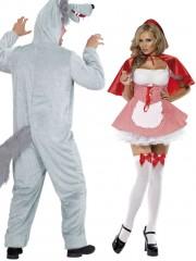 déguisements couples, déguisement chaperon rouge et loup garou Chaperon Rouge et Loup Garou