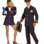 déguisements couples, déguisements pilote et hôtesse de l'air Pilote et Hotesse de l'Air