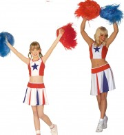 déguisements duos, déguisements pompom girl, déguisements cheerleader fille Cheerleader et Cheerleader Kid
