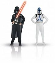 déguisements duos, déguisements enfants, déguisements super héros enfants, star wars Dark Vador et Clone Trooper