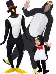 déguisements de groupe, déguisements de pingouin adultes et enfants Famille Pingouin