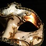 masque vénitien, loup vénitien, masque carnaval de venise, véritable masque vénitien, accessoire carnaval de venise, déguisement carnaval de venise, loup vénitien fait main Vénitien, Civette Symphonie Oca, Blanc