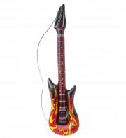 guitare électrique gonflable, guitare déguisement, accessoire rock déguisement, accessoire chanteur déguisement, fausse guitare électrique déguisement Guitare Electrique Gonflable, Flammes