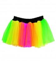 tutu multicolore, tutu fluo, accessoire déguisement années 80, accessoire années 80 déguisement, accessoire fluo, accessoire fluo déguisement Tutu Fluo Multicolore, Années 80