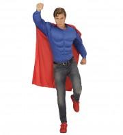 déguisement super héros homme, cape de super héros, soirée super héros, costume super héros homme, costume faux muscles homme Déguisement Comme un Super Héros