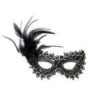 loup vénitien, masque vénitien, loup à plumes, masque à plumes Loup Galon, Plumes