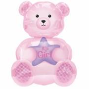 ballon hélium, ballon naissance, ballon bébé fille, ballon babyshower Ballon Aluminium, Naissance, Bébé Ourson Fille