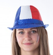 chapeaux de supporter france, euro 2016, chapeau de supporter équipe de france, accessoires euro 2016, accessoires supporters france, boutique supporters, chapeaux paris Chapeau de Supporter France, Sequins Bleus Blancs Rouges
