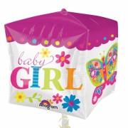 ballon hélium, ballon naissance, ballon bébé fille, ballon babyshower Ballon Aluminium, Naissance Fille, Baby Girl