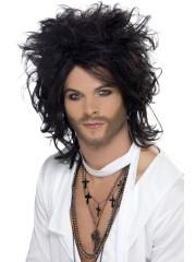 perruque pour homme, perruque pas chère, perruque de déguisement, perruque homme, perruque noire, perruque indochine Perruque 90, Sex God, Noire