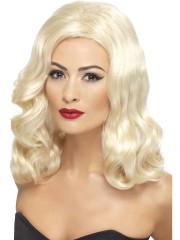 perruque blonde, perruque cheveux ondulés, perruque années 20, perruque femme, perruques paris, perruque charleston, perruque pas chère à paris Perruque Luscious, Blonde