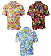 chemise hawaï homme, chemise hawaïenne homme, accessoire hawaï déguisement, soirée hawaï, accessoire déguisement soirée tropicale, colliers hawaïens, déguisement hawaïen homme Chemise Hawaï, 3 modèles